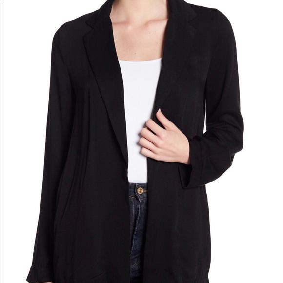 ro & de jackets & coats | rode black flowy blazer | poshmark